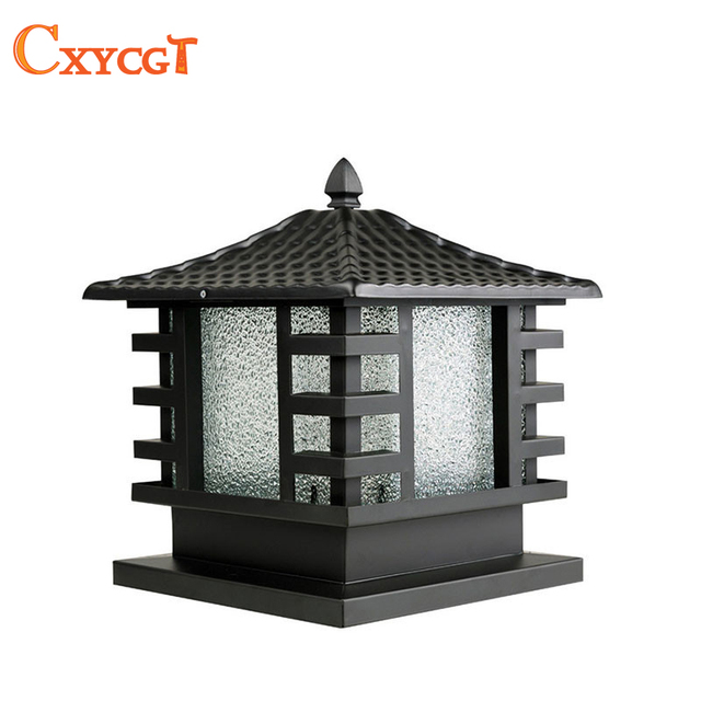 Outdoor Black Copper Porch Lamp wall lamp gate lamp Light fixture-in ...