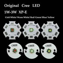 5PCS/lot  XPE XP-E 1W-3W Red Green Blue Royal Blue Yellow Cool White Warm White LED light With 20mm base 5x 3w cree xpe xp e high power led emitter diode neutral white cool white warm white red green blue royal blue yellow with pcb