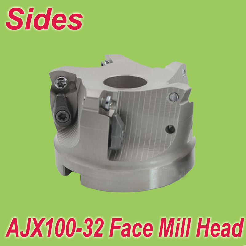 Free Shiping  AJX-100-32-5T Indexable FaceMill Head Cutter Shell Mill 100mm for Mitsubishi JDMW120420