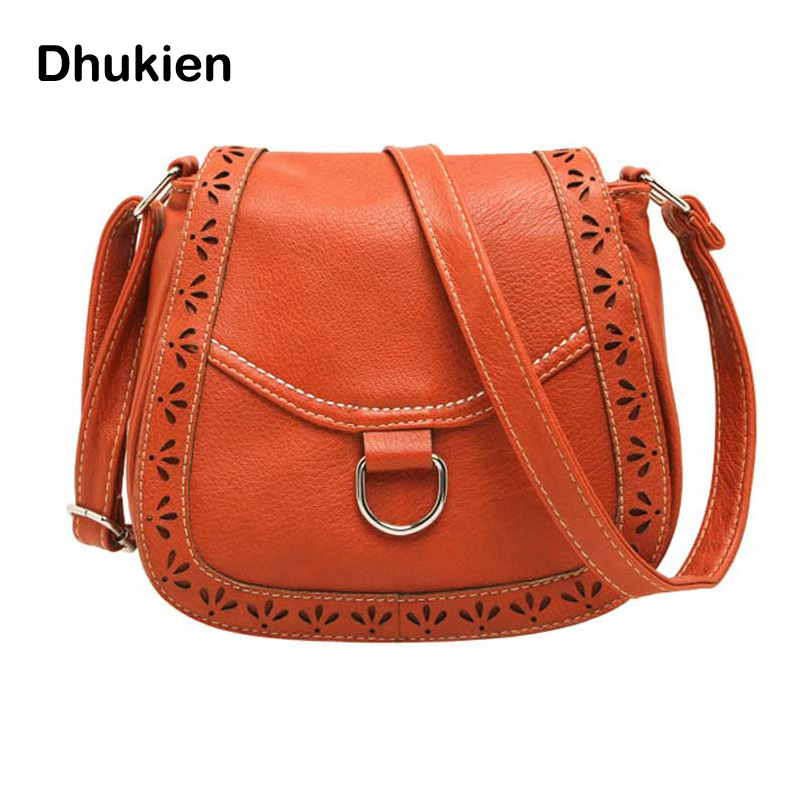 New Fashion Vintage Solid Color Hollow Out Shoulder Bag Small Package Portable Bag Women Crossbody Bag H15052