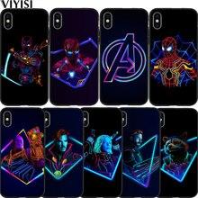 Luxury Marvel Avengers Super Heroes Deadpool Spider-Man Case For Apple iPhone X 7 8 6 6S Plus 5 5S SE XS MAX XR Etui Coque