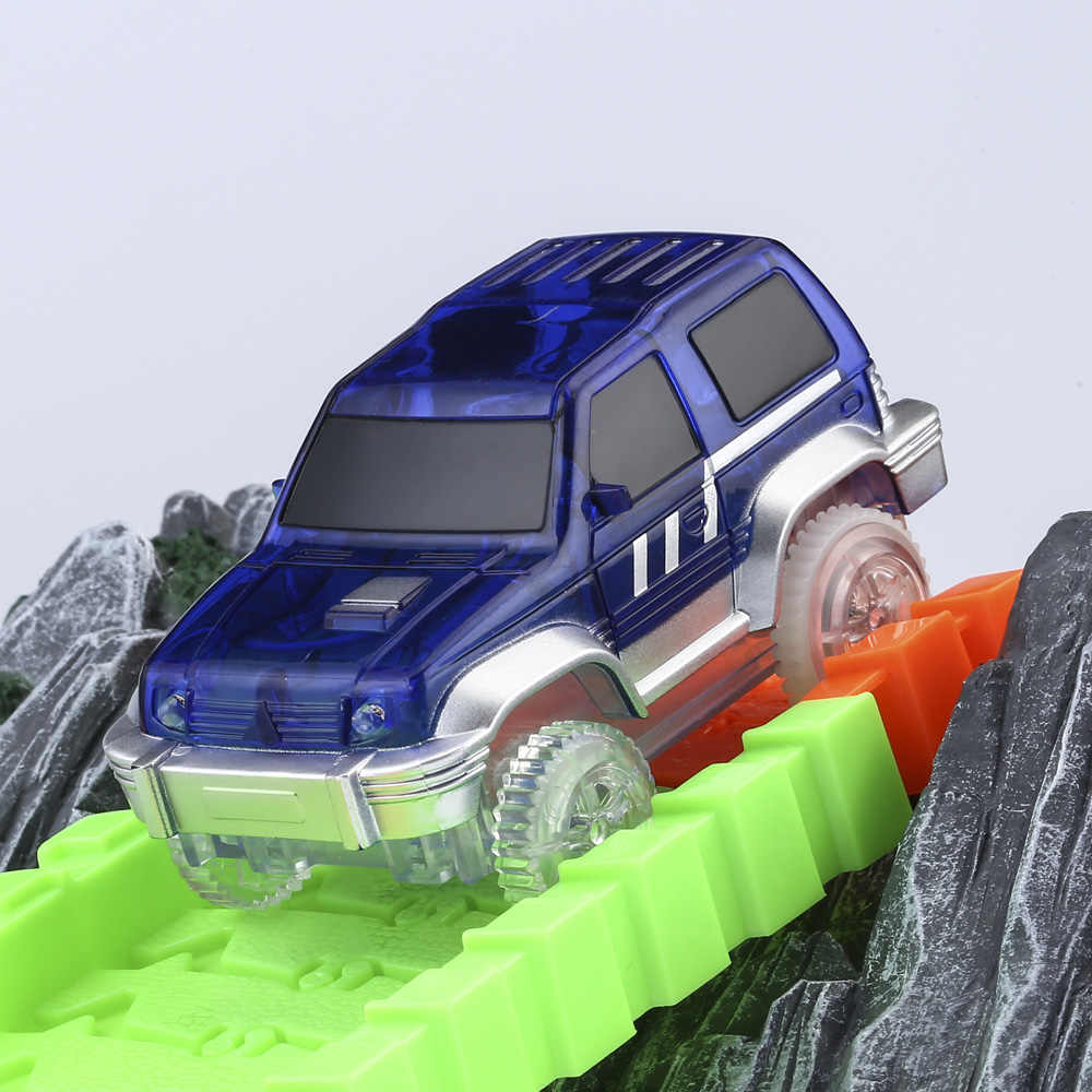 מהבהב LED לרכב עבור קסם מסלול אור עד מירוץ מכוניות רולר זוהר מסלול מירוץ אלקטרוניקה מכונית רכבת לילדים חג המולד מתנות