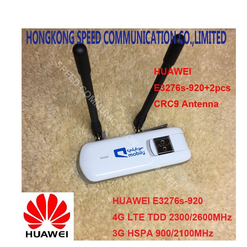 Desbloqueado Huawei E3276S-920 E3276s 4G LTE módem 150 Mbps WCDMA TDD dongle USB inalámbrico red más 2 unids 4g antena