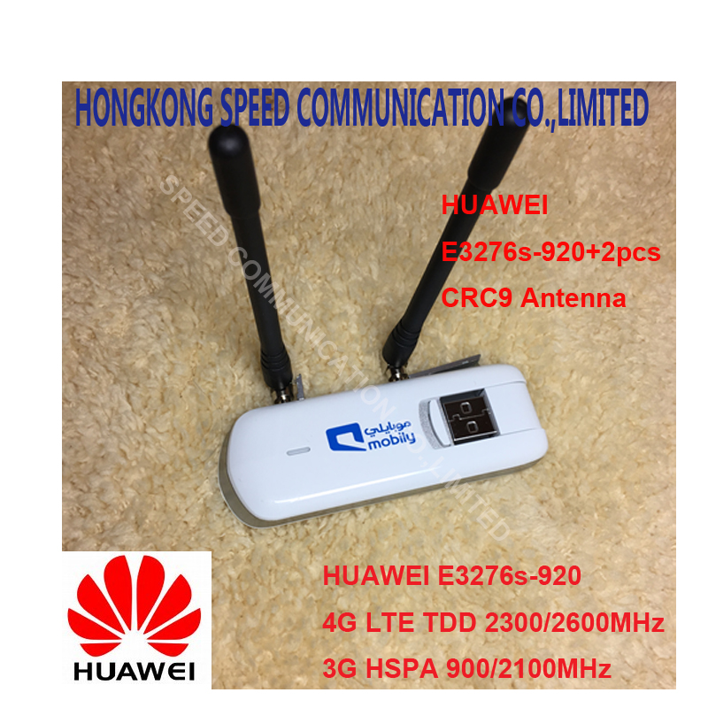 цена Unlocked Huawei E3276S-920 E3276s 4G LTE Modem 150Mbps WCDMA TDD Wireless USB Dongle Network plus 2pcs 4g antenna