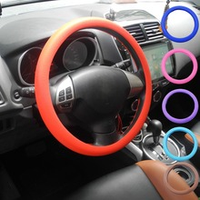 Silicone Steering Wheel Cover Shell Skidproof Odorless For VW Audi Nissan Peugeot Mazda Toyota Lexus Honda KIA Hyundai