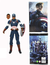 21cm Marvel Anime The Avengers Action Figures Captain America Garage Kits Joints Can Be Moved With Beautiful gift Box For Fans