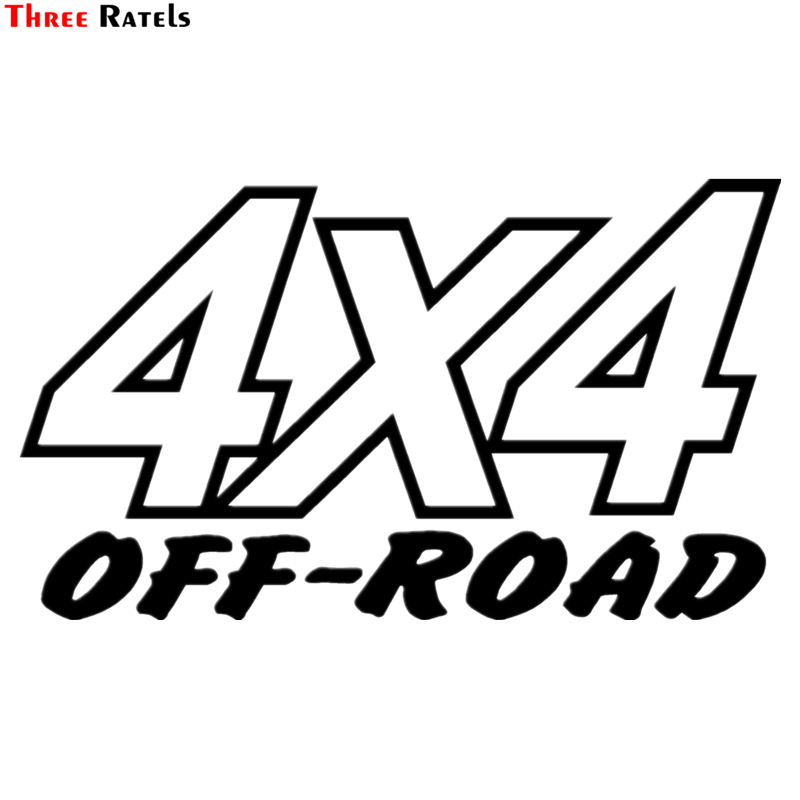 Three Ratels TZ-1345# 13.9*24cm 1-3 car pieces stickers off road funny car sticker auto decals
