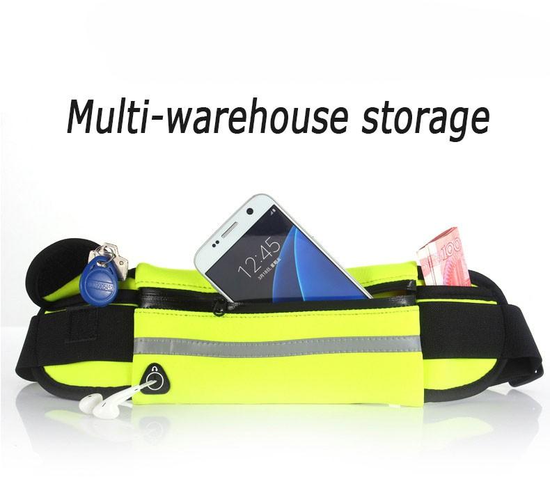 Outdoor Running Waist Bag Waterproof  Mobile Phone Holder Jogging Belt Belly Bag Women Gym Fitness Bag Lady Sport Accessories 8
