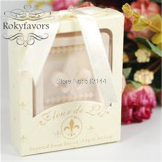 Free Shipping 20pcs Fleur De Lis Soap Favors Bridal Shower Birthday
