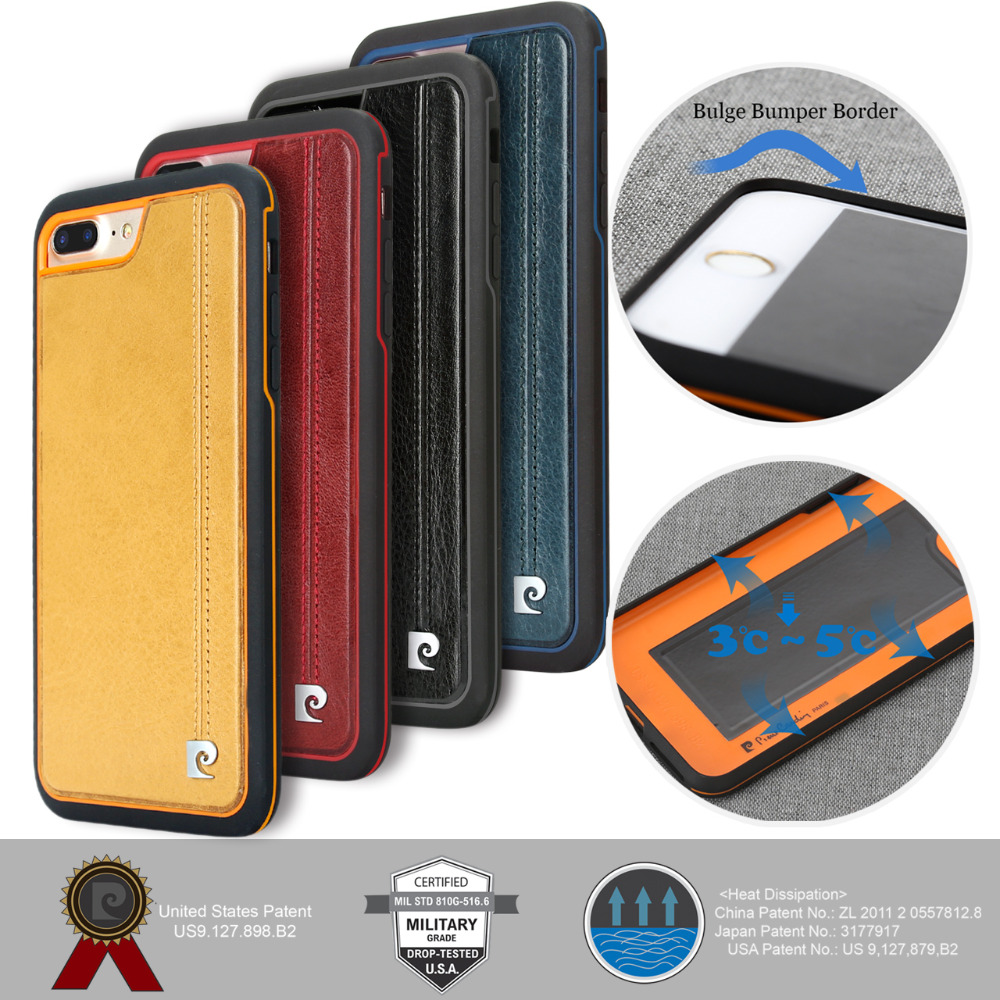 För Apple iPhone 7-fodral 7 Plus Telefonfodral Pierre Cardin Lyxig - Reservdelar och tillbehör för mobiltelefoner