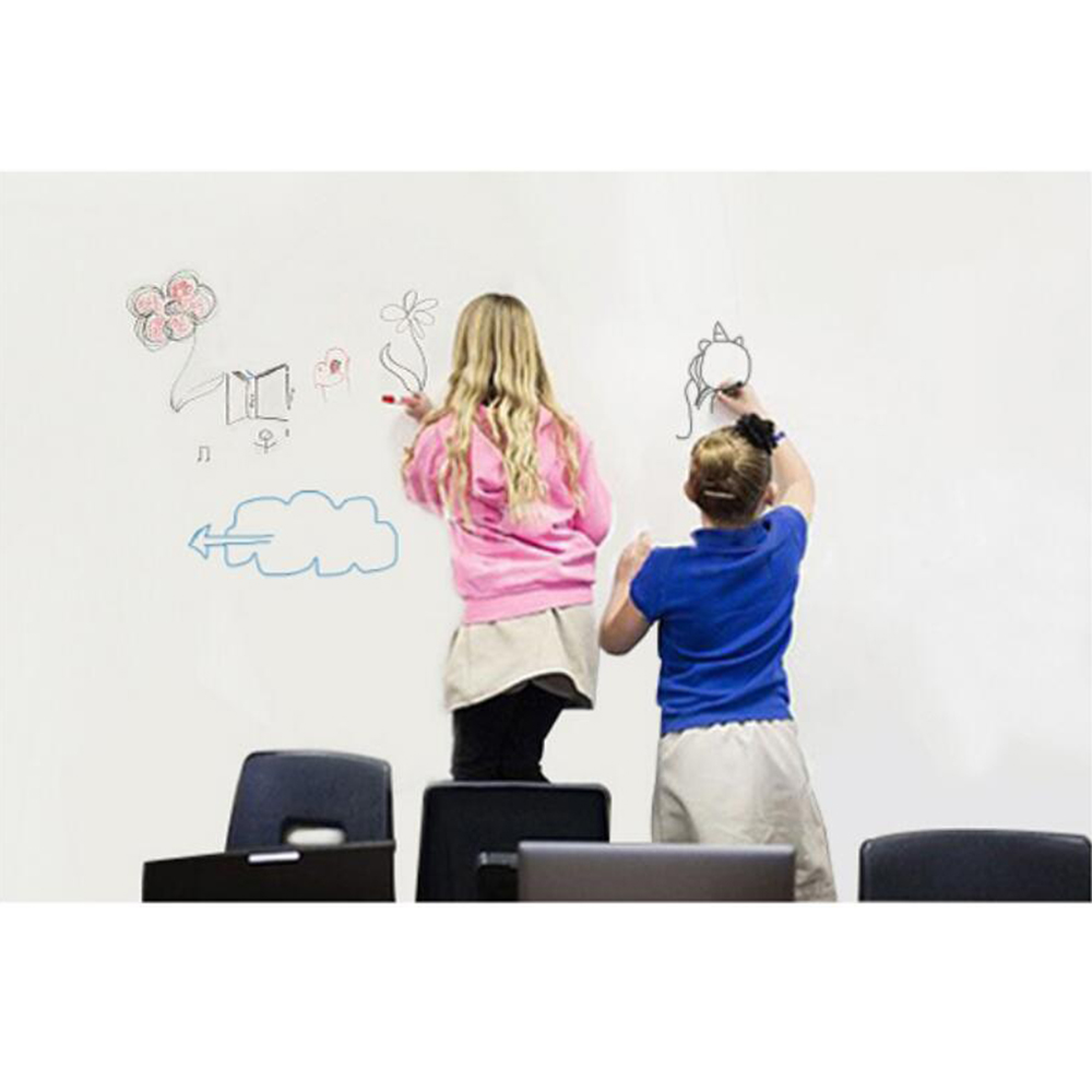 "1.52x3m/60""x10ft White Board writting film Peel and Stick Message Board Decal for Home and Office with a Black Pen"