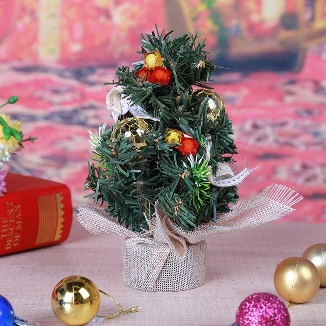 Mini Christmas Tree Ornaments.Us 3 06 Mini Christmas Tree Ornament Home Office Desk Table A Small Pine Tree Christmas Decoration For Home Party Ornaments Kids Gifts In Trees