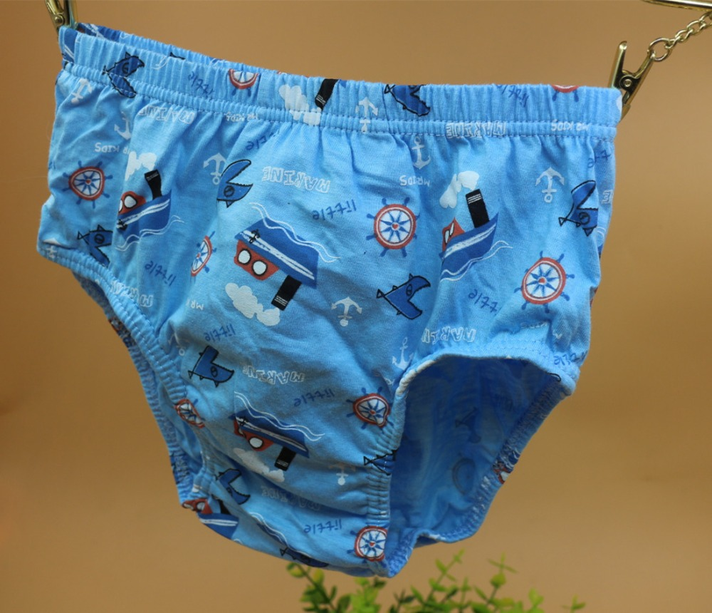 5 Pack Boy/'s Briefs Panties Little MARINE Cotton Underwear Kid 4-12 Years