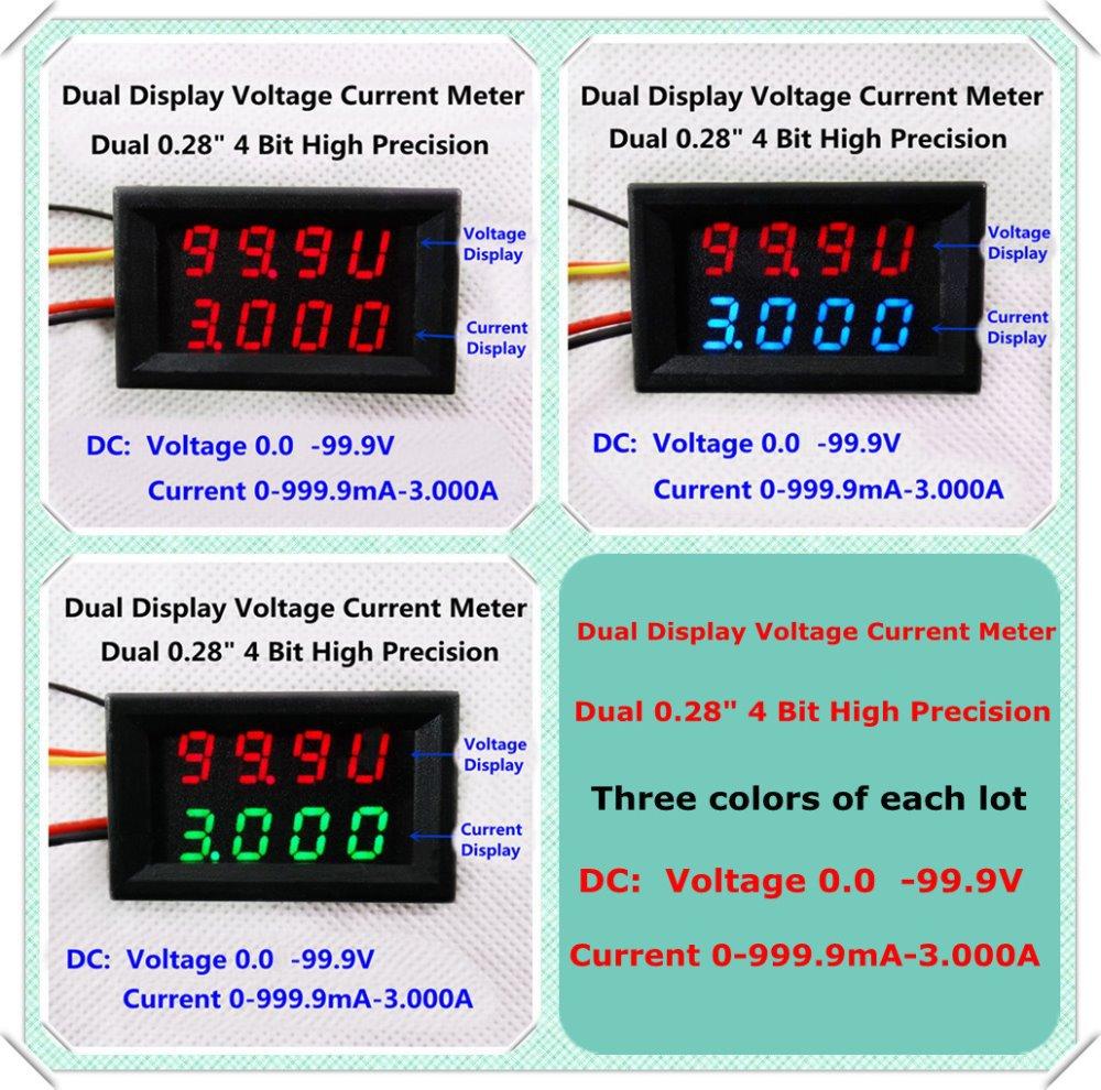 RD Blue/Red/Green+Red Dual LED 4 bit DC 0 100V/1A/3A 0.28 Digital ...