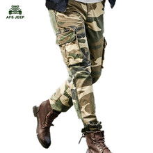 New Camouflage Pants Fashion Spring Autumn Casual Army Military Cargo Pants Multi-pockets Plus Size 30-42 Men's Pants