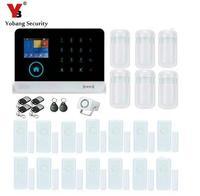 YoBang GPRS WI FI 3G de Segurança Sem Fio Em Casa Sistema de Alarme Teclado de Toque de Alarme de Pânico WCDMA/CDMA SMS de Alerta IOS APP Android 433 MHZ Kits de sistema de alarme     -
