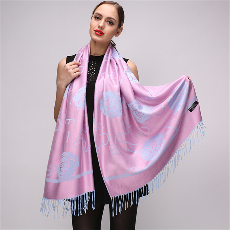 2018 Fashion Winter   Scarf   Women Shawl Brand Luxury Printed Pashmina Blanket   Scarf     Wrap   Cotton   Scarf   Spring Female Bandana   Scarf
