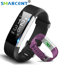 Smarcent S115 Plus MI Smart Bracelet GPS Fitness Tracker Watches Band Heart Rate Monitor Counter Music Control Wristband band 2