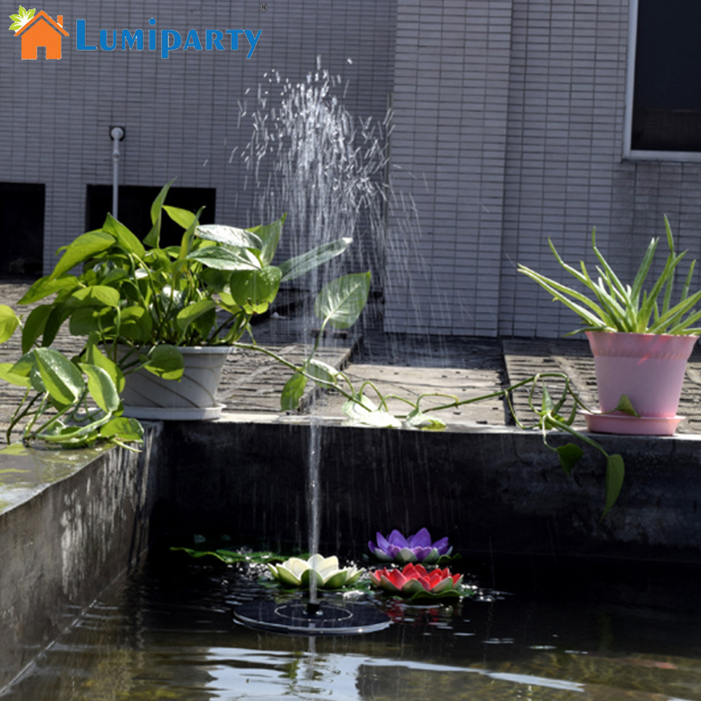 Floating Solar Fountain Garden Water Fountain Pool Pond Decoration Solar Panel Powered Fountain Water Pump Garden Decoration