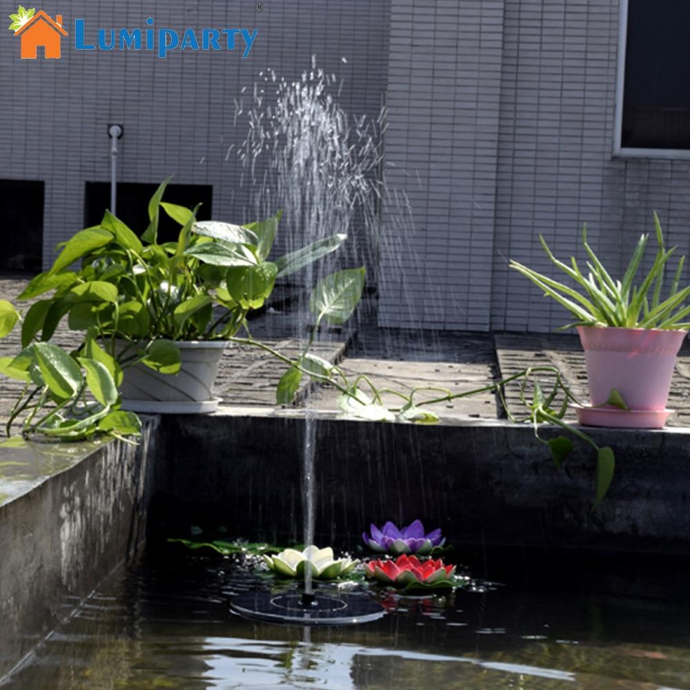 Fontaine Solaire De Jardin se rapportant à lumiparty vente chaude 7 v flottant pompe À eau panneau solaire
