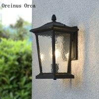 Retro americano LEVOU lâmpada de parede ao ar livre pátio sala personalidade criativa Europeia bronze lâmpada de parede à prova d' água|Luminárias de parede|Luzes e Iluminação -
