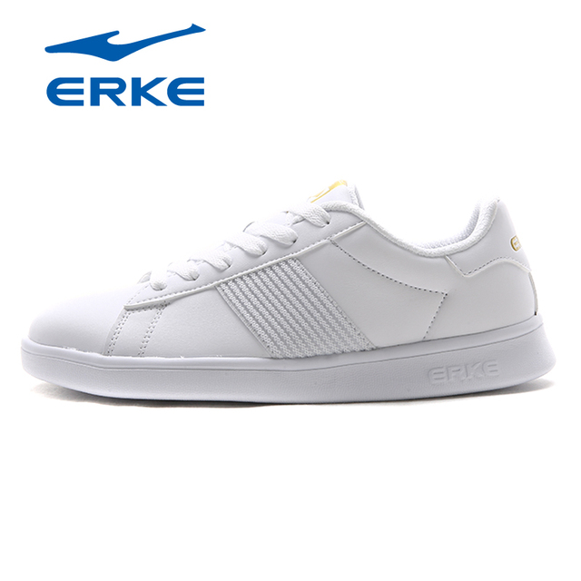 Ерке классические черные и белые мужские кроссовки 9908 Кружево-Up PU Для мужчин Обувь для скейтбординга Молодежная Спортивная обувь Водонепроницаемый Низкие туфли Для мужчин 2018