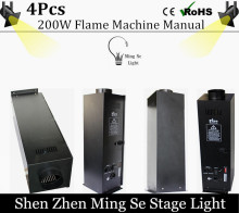 4pcs/lots  200W Four Corner stage flame machine Spray Fire Machine Dmx Flame Projectors Stage Equipment DMX Fire Machine
