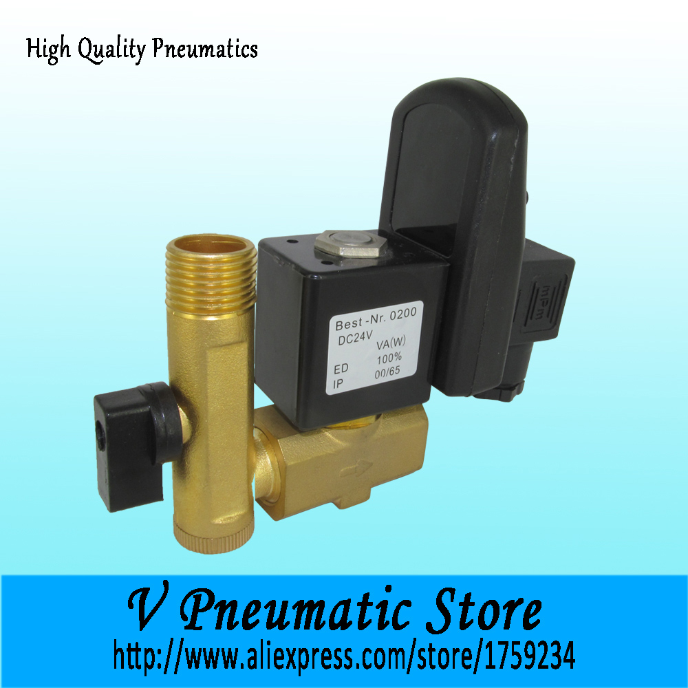 1 2 Inch Direct Acting Normally Closed Br Material Air Compressor Auto Drain Valve With Timer