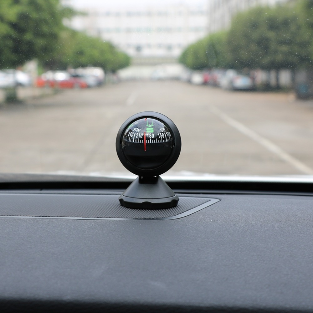 Car Ornaments Plastic Navigation Compass Ball Automobile Vehicle Interior Decor Outdoor Direction Guidance Tool