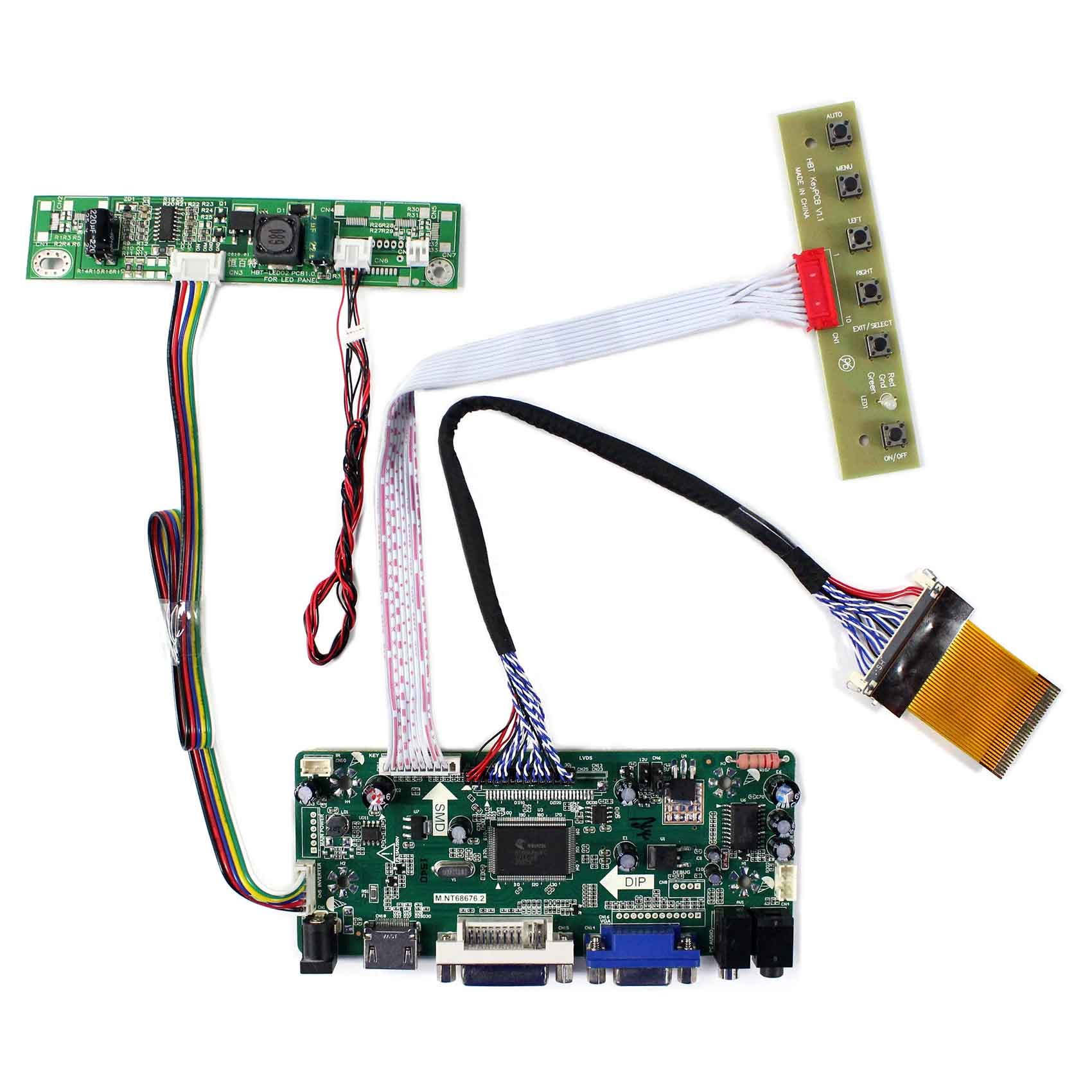 HDMI DVI VGA Audio Controller Board For 23inch LTM230HT05 LTM270HT03 1920X1080 LCD Panel