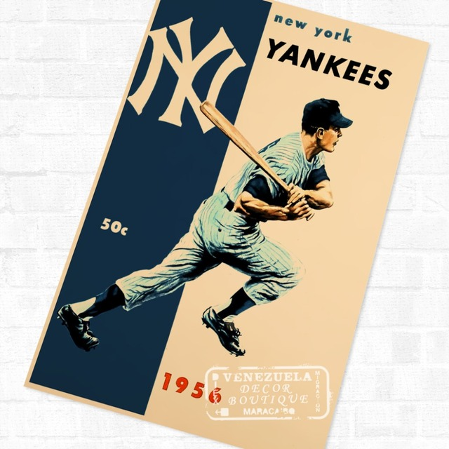 New York Baseball Sports Vintage New York Travel Poster Retro Canvas ...