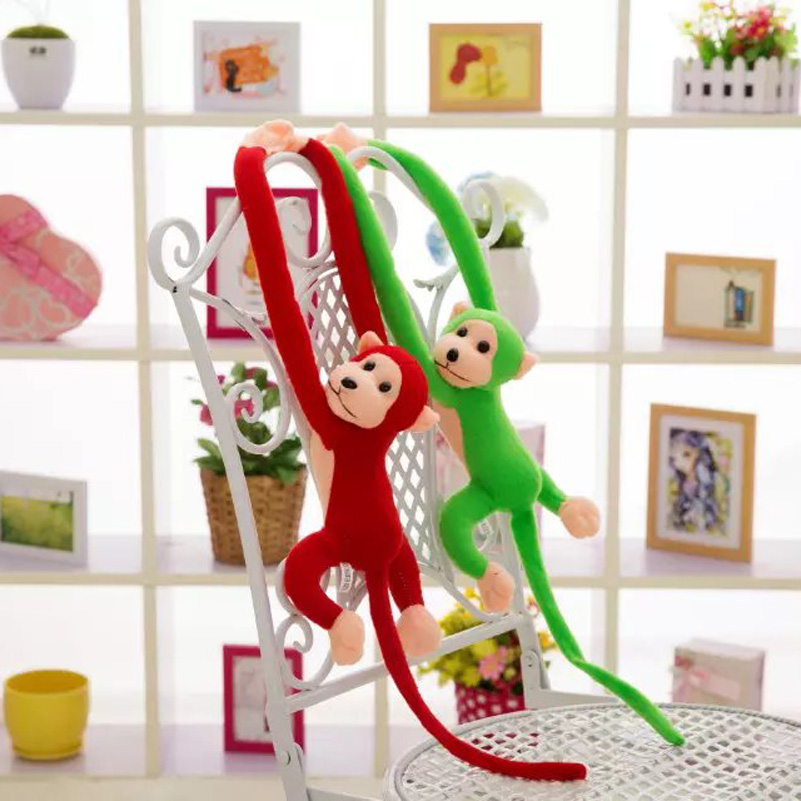 10 Colors <font><b>Lovely</b></font> Curtains Baby Sleeping Appease Animal <font><b>Hanging</b></font> <font><b>Long</b></font> <font><b>Arm</b></font> Tail <font><b>Monkey</b></font> <font><b>Stuffed</b></font> <font><b>Doll</b></font> Plush Toys Birthday Kids Gifts