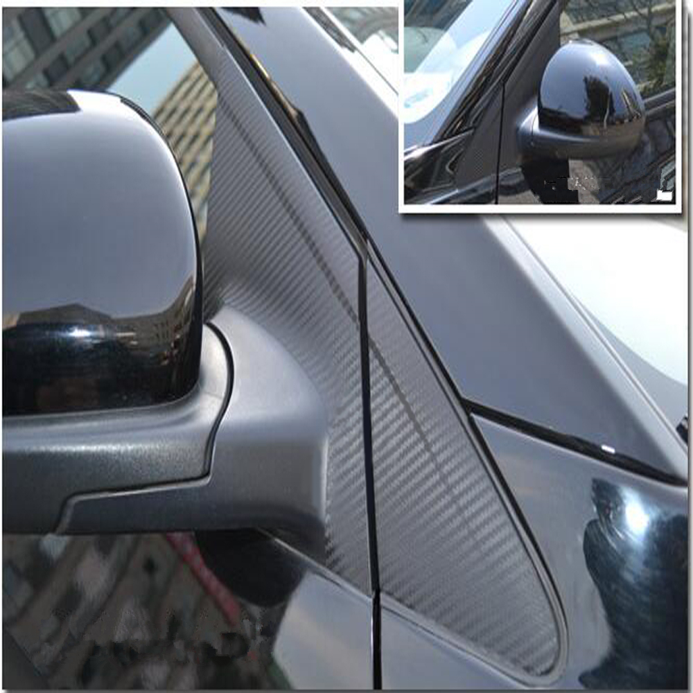 Car Exterior Accessories Carbon Fiber Decorative Window Center Pillar Sticker For Chevrolet Cruze 2009 To 2016 12PCS Per Set