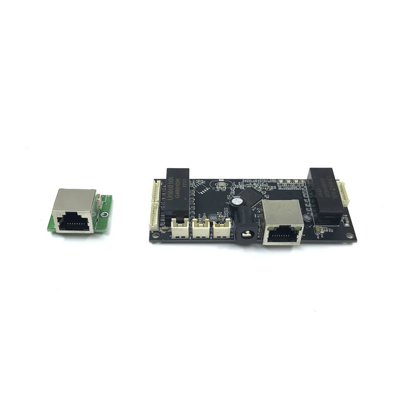 Image 2 - Industrial Ethernet Switch Module 10/100/1000mbps 4/5/6 port PCBA board OEM Auto sensing Ports PCBA board OEM  Motherboard-in Network Switches from Computer & Office