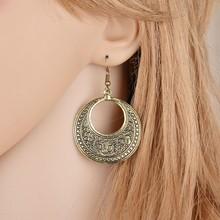 Metal Earrings Round