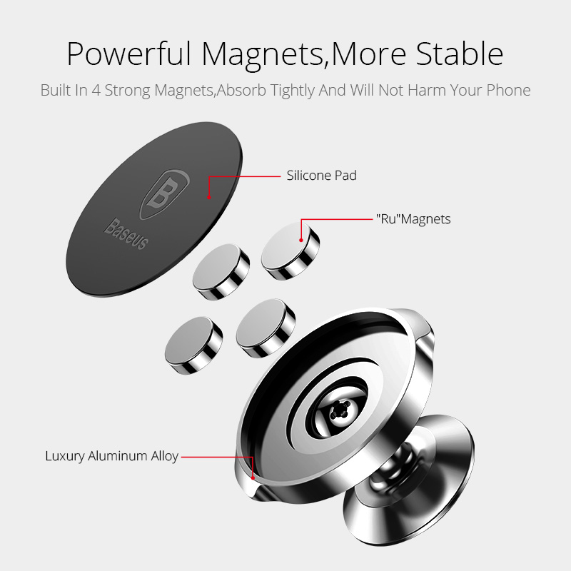 Image 4 - Baseus Magnetic Car Holder For Phone Universal Holder Mobile Cell Phone Holder Stand For Car Air Vent Mount GPS Car Phone Holder-in Phone Holders & Stands from Cellphones & Telecommunications
