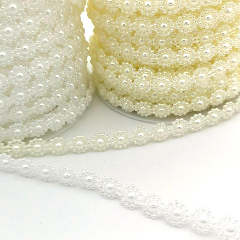 3 м/лот, жемчужные бусины, 10 мм, цветок, рукоделие, бисер ABS, имитация жемчуга, ручная работа, бисер для рукоделия, свадебные, вечерние, украшения