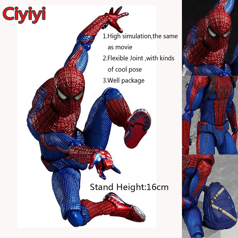 Marvel Spider-Man Homecoming Pvc Action Toy High Quality The Amazing Spider-Man Display Collection Doll  Children&Man Jouet Gift funko pop marvel loki 36 bobble head wacky wobbler pvc action figure collection toy doll 12cm fkg120