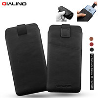 QIALINO Phone Cases for Samsung Galaxy S8 Plus Case Genuine Leather Sleeve Phone Pouch for Galaxy S8+ Cover Coque,Size: 158 x 80