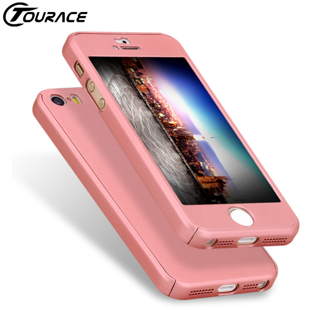 info for 06179 797fb US $4.49 |TOURACE Hot Selling 360 Full Body Case Cover for iPhone 5 SE Hard  Ultra thin phone 5s Case Include Glass Film on Aliexpress.com | Alibaba ...