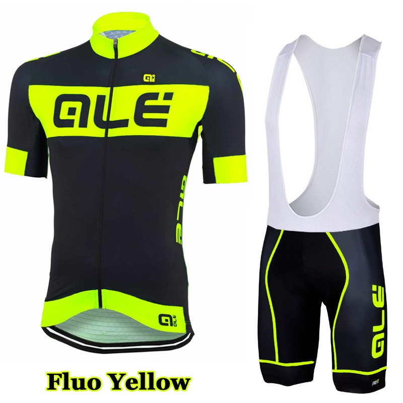New Style 2017 Team ALE Cycling Jerseys Breathable /Quick-Dry Ropa Ciclismo Short Sleeve Bike Clothing Racing Team Sportswear