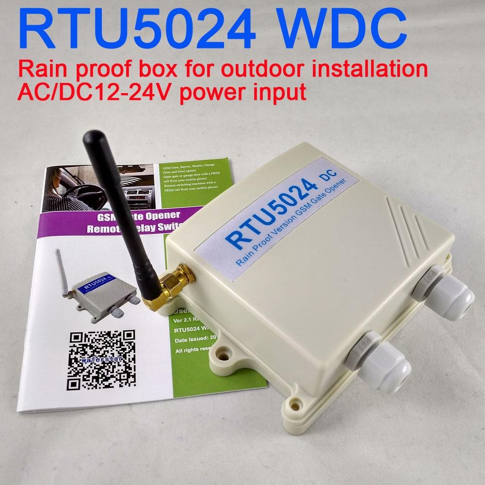 DC Version Rain proof version RTU5024 GSM Gate Door Opener Wireless remote controller GSM Relay Remote