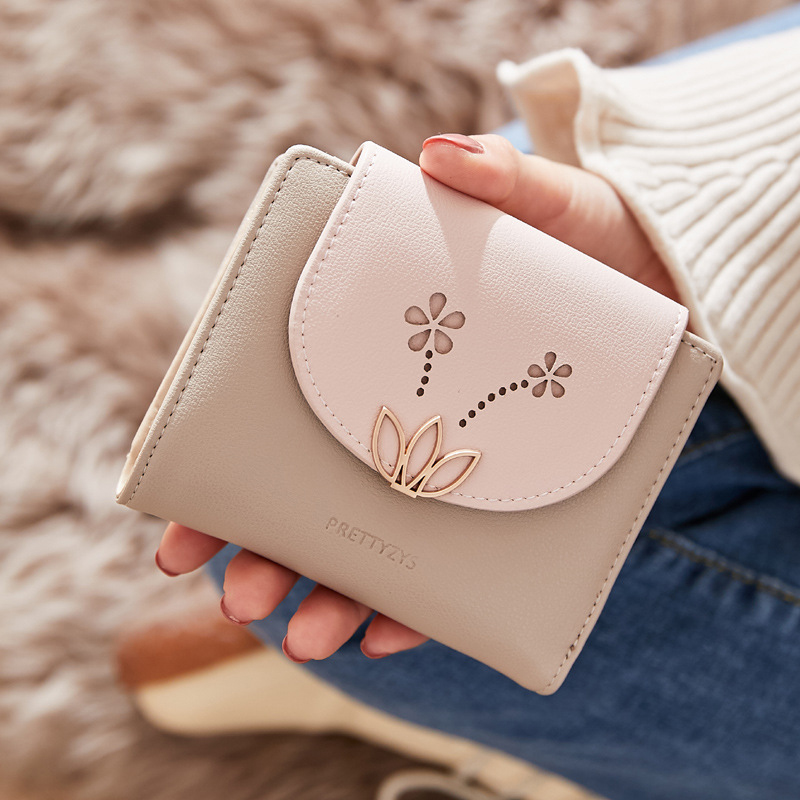Brand Small Wallet Female Short Cute Purse New Two Fold Multifunction Coin Purse Women Fashion Wallets Clutch Carteira