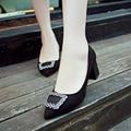 Новый 2016 женщин Сексуальный Горный Хрусталь Высокие Каблуки Обуви Женщина Fashion Женщины Насосы Летние Туфли На Шпильке Партия Обуви Черный