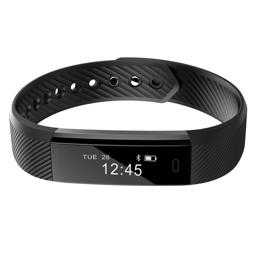 ID115 Smart Bracelet Fitness Tracker Step Counter Fitness Band Alarm Clock Vibra
