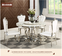 Stainless steel Dining Room Set Home Furniture minimalist modern glass dining table and 4 chairs mesa de jantar muebles comedor