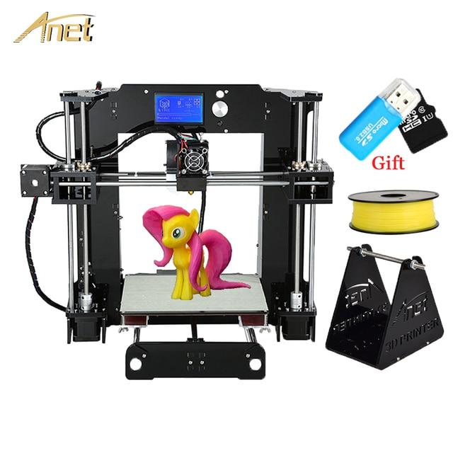 Printer 3D Anet A6 impressora 3d-printer DIY Full Acrylic Frame Machine Industrial Extruder Reprap 3D Printer Kit free filament