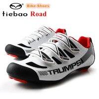 TIEBAO zapatos de ciclismo de carretera para hombre  zapatillas deportivas ultralivianas con autosujeción