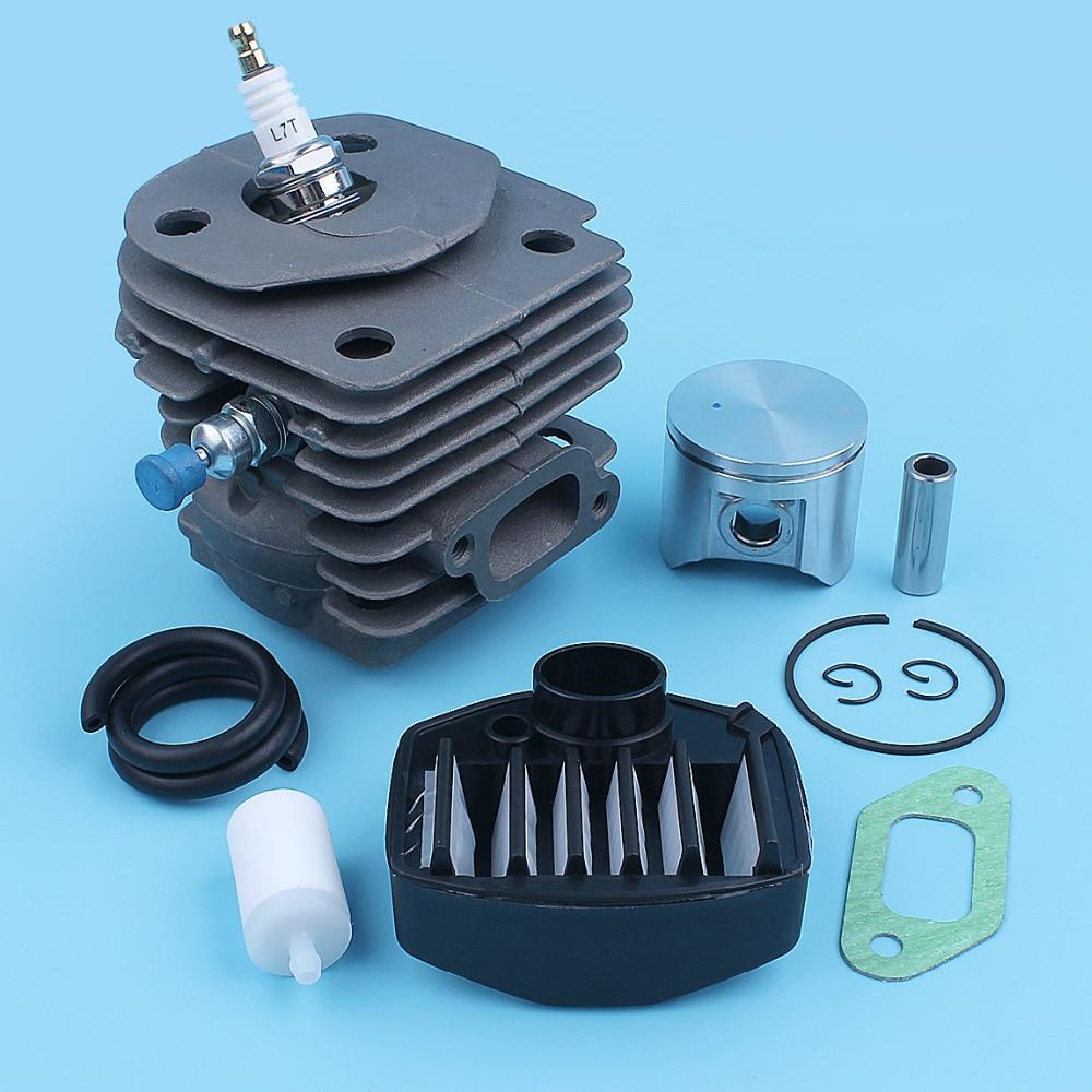 Cylinder Piston Air Fuel Filter Gas Line Kit For Jonsered CS 2159 CS 2156 CS2159 CS2156 EPA Chainsaw 47mm Big Bore Port Nikasil