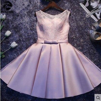 FOLOBE robe de soirée courte en dentelle grande taille sans manches dos nu bal élégant soirée été robe femmes noël robes de fiesta